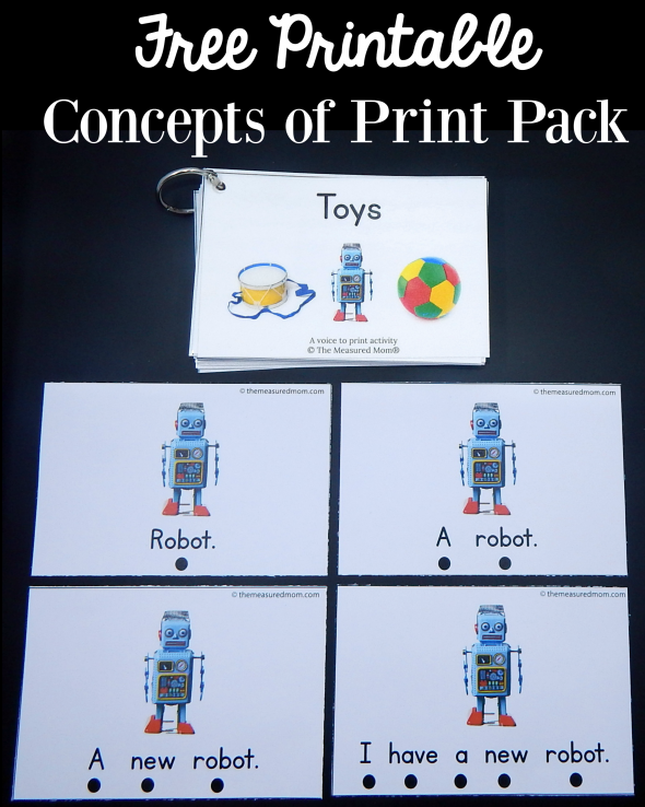 This free concepts of print activity is great for preschool and kindergarten! Get 40 free cards in the pack.