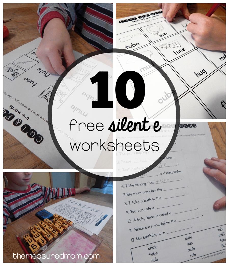 Workbooks u worksheets for kindergarten : 10 Free worksheets for u-e words - The Measured Mom