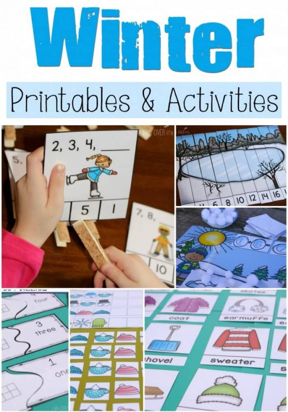 Free winter printables for preschool & up - The Measured Mom