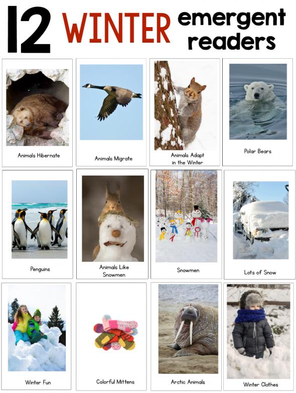 new winter theme pack for preschool kindergarten the measured mom