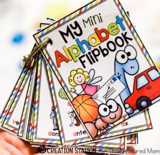 Mini Alphabet Flipbook - The Measured Mom
