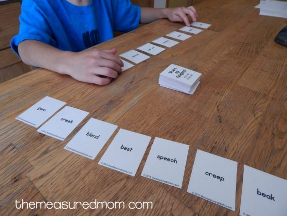 Print this free spelling game for word work with short e, ea, and ee words. Love it!