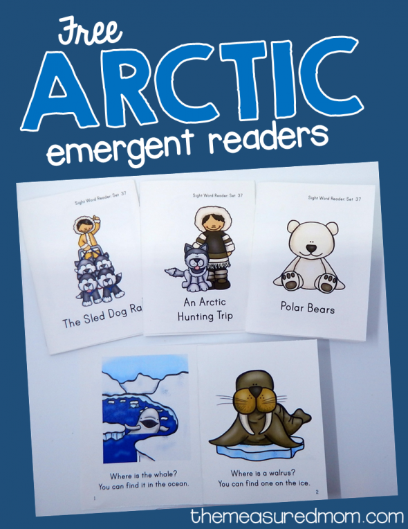 These free arctic emergent readers are wonderful for kids in kindergarten and first grade! They're great for teaching sight words to beginning readers.