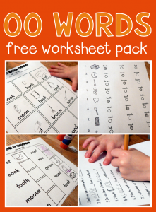Free worksheets for oo words