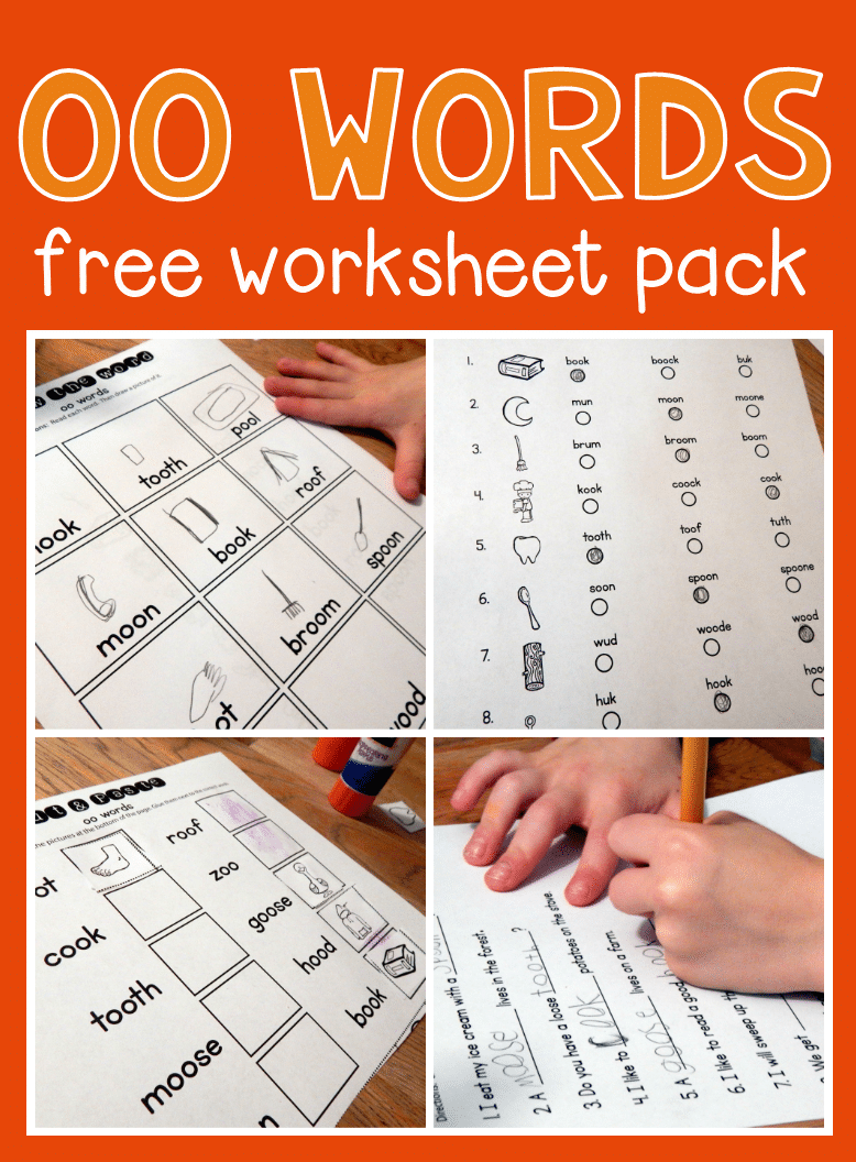Workbooks r blend worksheets : Free worksheets for oo words - The Measured Mom