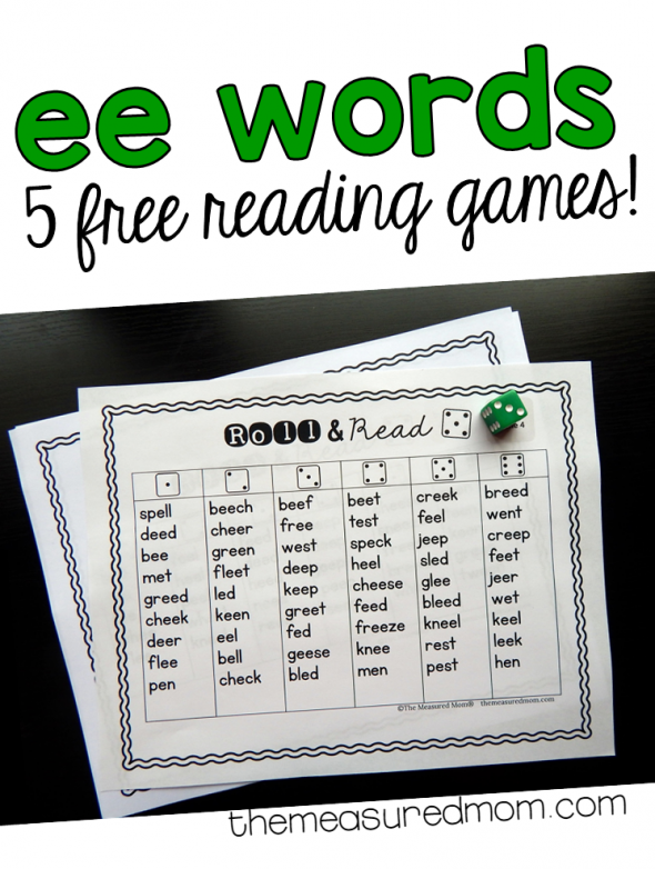 These five free games are perfect for practicing ee words!