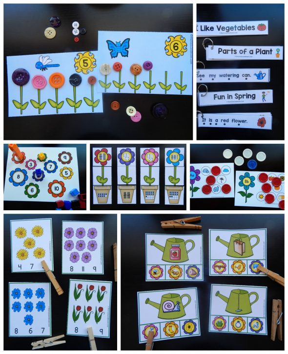 Looking for spring activities for preschoolers and kindergartners? This giant set of printable books, games, and more is just what you need!