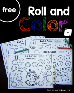 Free winter roll and color games