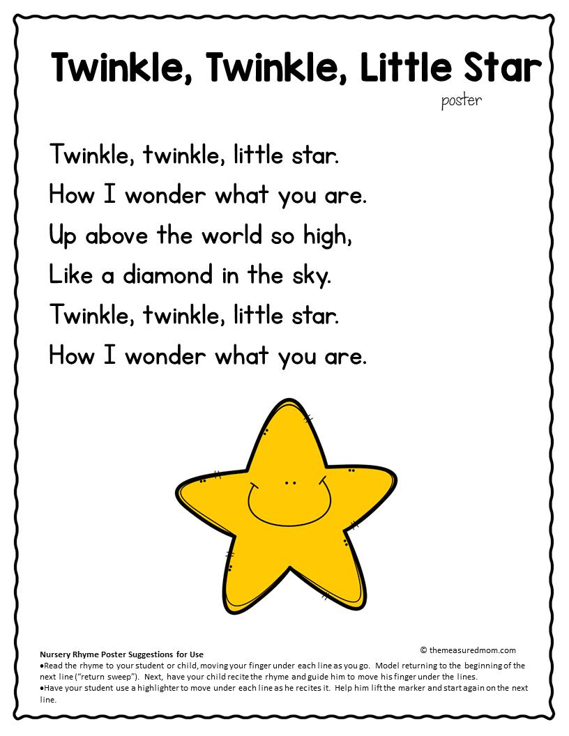 Nursery Rhyme Concepts Of Print Pack