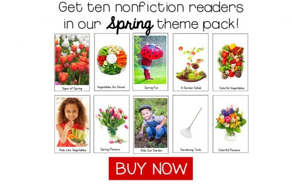 Spring theme nonfictiction readers link to buy