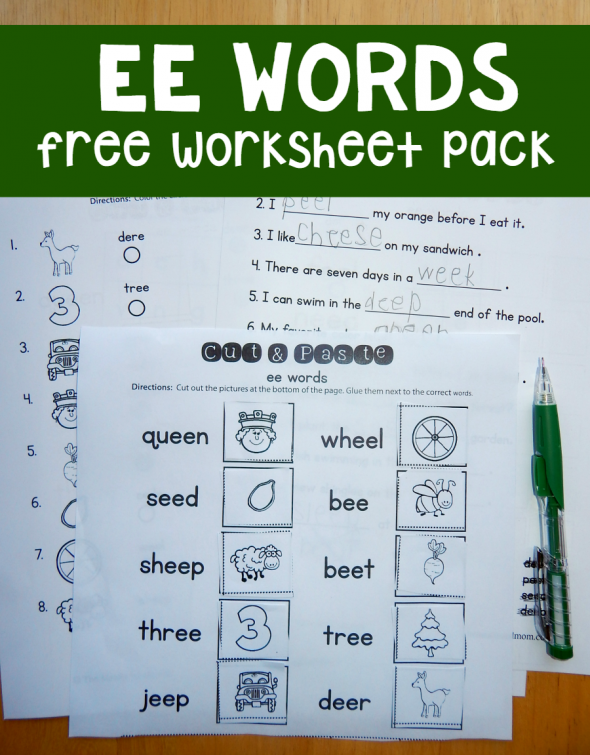 ee words worksheets