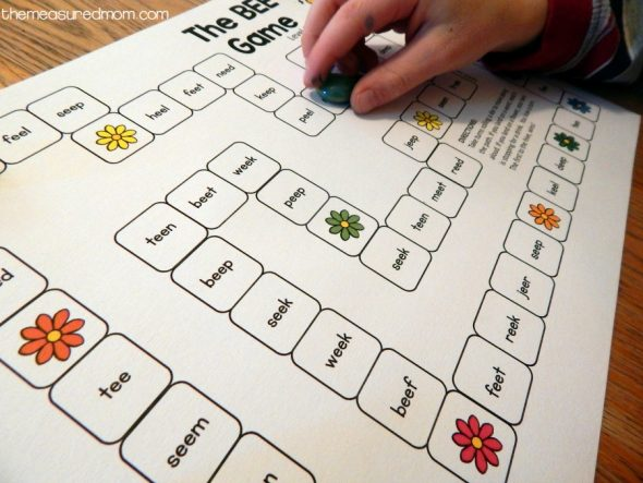 free printable game for ee words 1