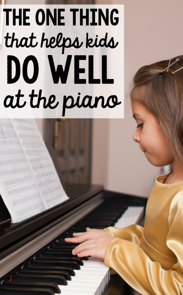 help kids do well at piano lessons