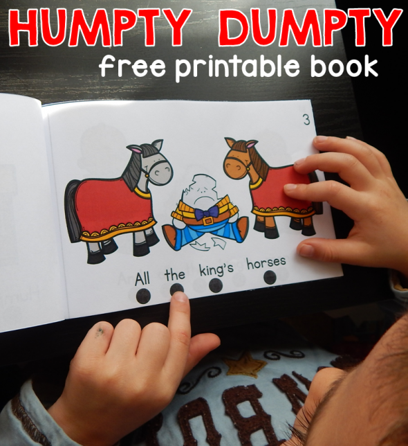 We love nursery rhyme activities, so this Humpty Dumpty book was big hit! So great for teaching concepts of print.