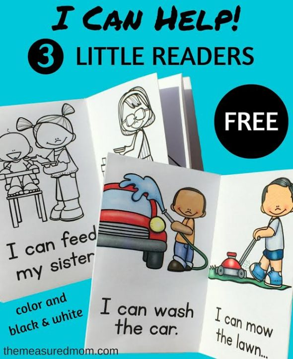 Free I Can Help printable books The Measured Mom