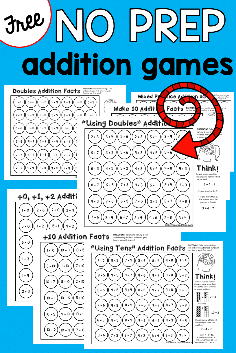 worksheet Addition Facts 9 free addition games the measured mom