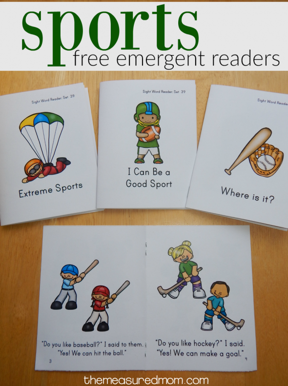 sports emergent readers