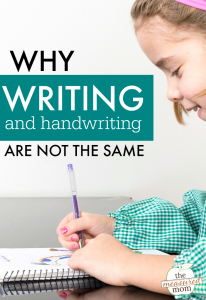 How teaching writing is different than teaching handwriting