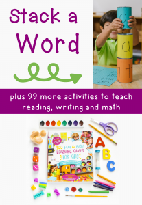 """Stack a word"" phonics activity"