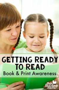 Help your child get ready to read by teaching concepts of print