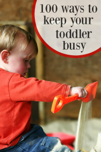 100 toddler activities your little one will love!