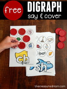 Free activity to teach the sounds of consonant digraphs