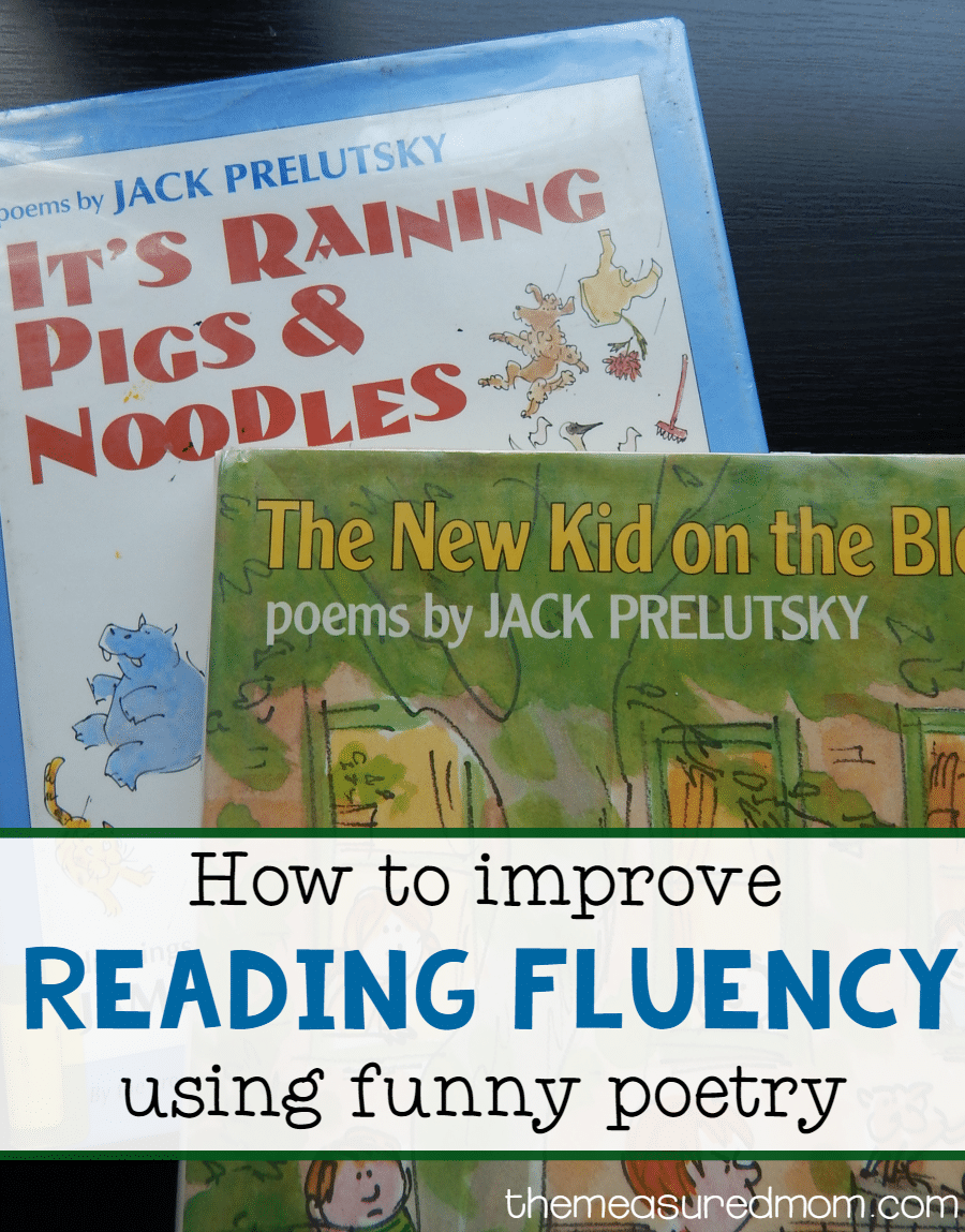 use funny poetry to improve reading fluency the measured mom