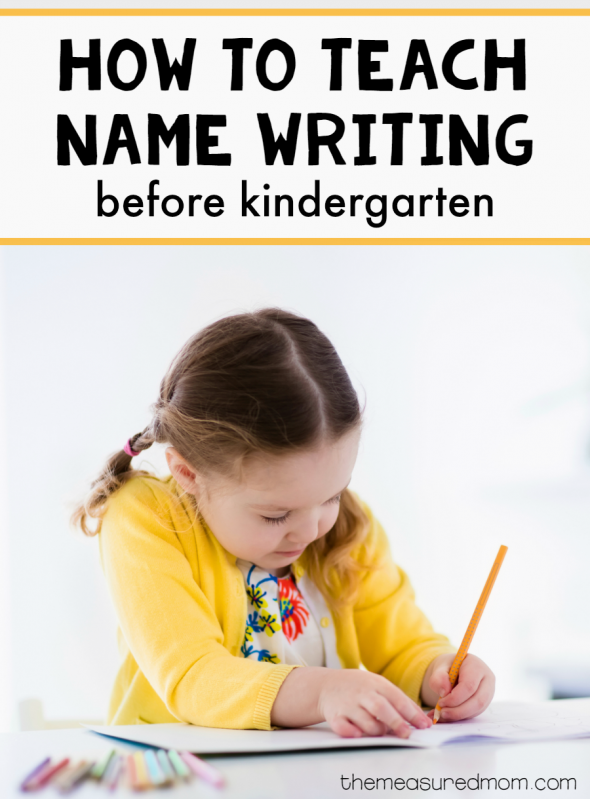 how to teach name writing before kindergarten