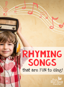Fun rhyming songs for kids