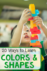 20 Shape and color activities for preschool