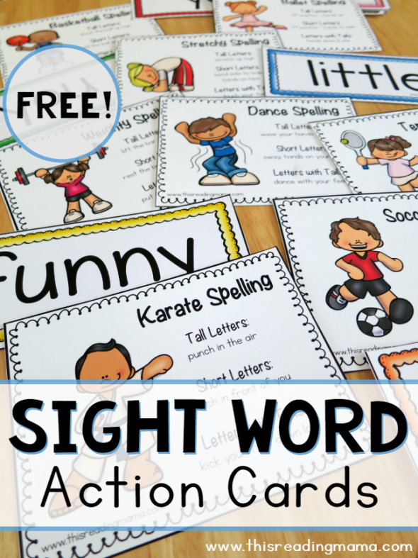 SIGHT WORD ACTION CARDS