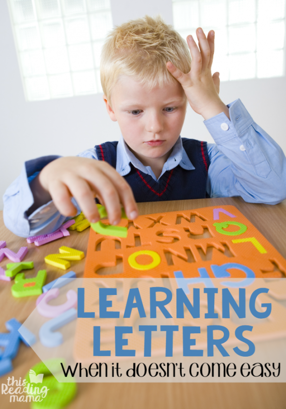 teaching the alphabet when it doesn't come easy