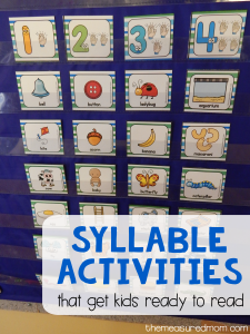5 Fun syllable activities (with free printables!)