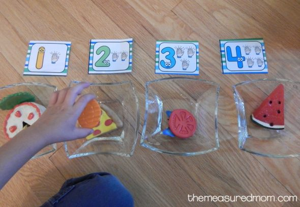 My preschooler had so much fun with these free syllable sorting cards. The other syllable activities are great too - especially the jumping one!