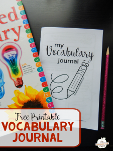 Free vocabulary journal for kids