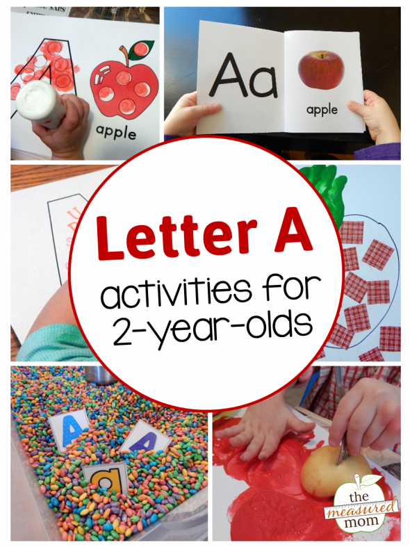 Letter a activities for 2 year olds the measured mom for Kitchen set for 9 year old