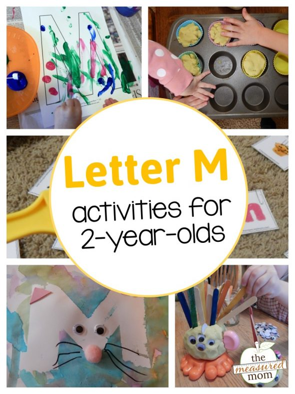 Letter M with a 2-year-old