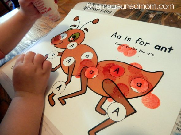 letter A activities for 2-year-olds 11