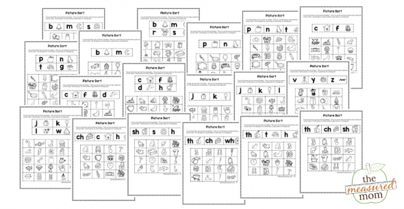 18 beginning sound picture sorts sample