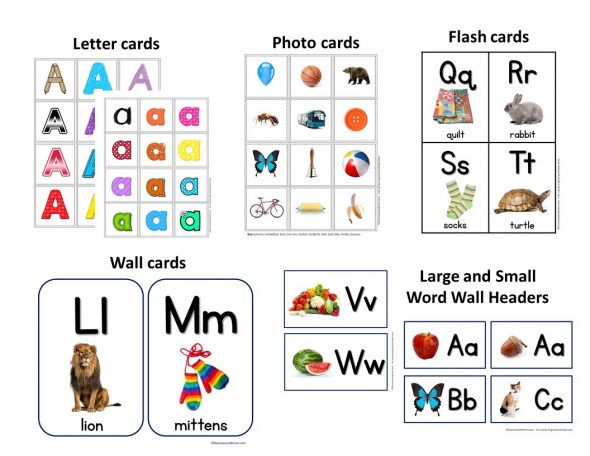 A Z Letter Cards Photo Cards Alphabet Flash Cards More The