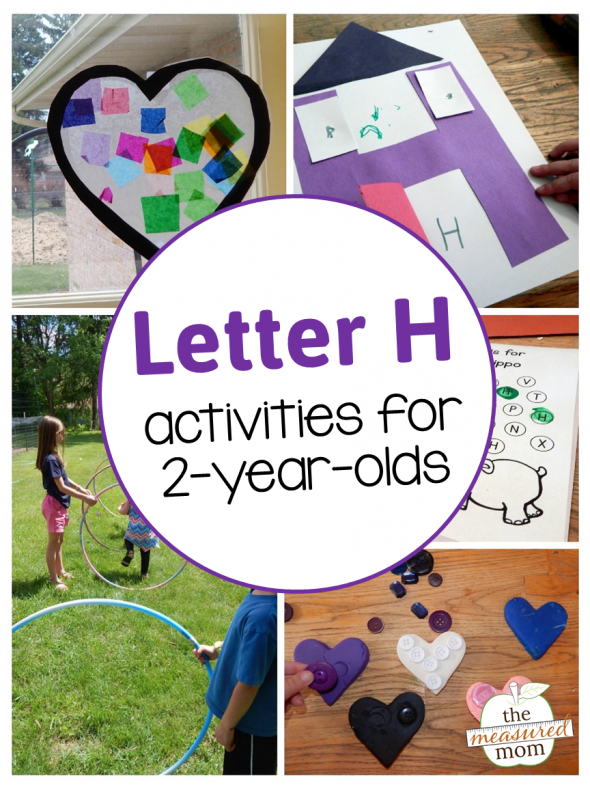 Letter H with a 2-year-old