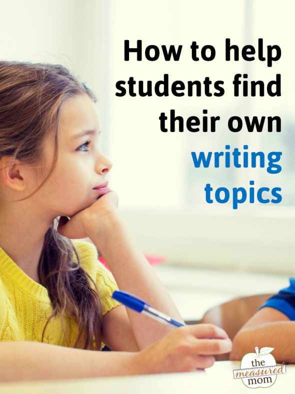 Teaching writing is tough when your kids can't find writing topics. Try these ten tips to help kids find their own ideas - no writing prompts needed!