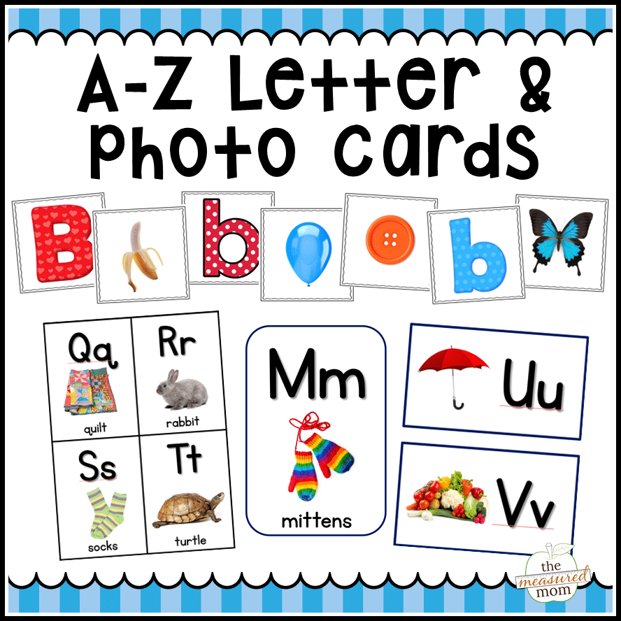 A Z Letter Cards Photo Alphabet Flash More