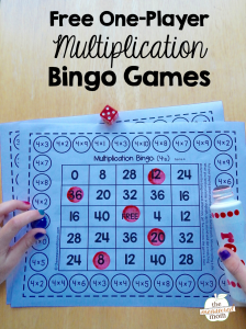 Free single-player multiplication bingo games