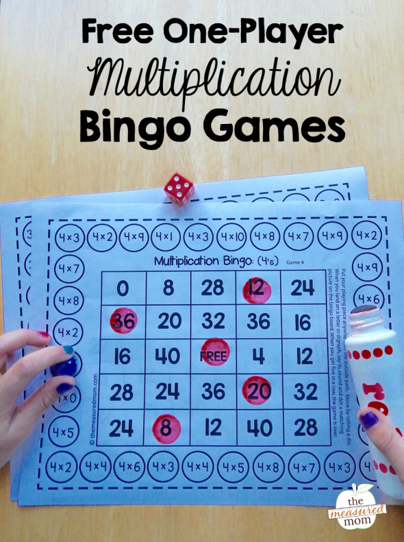 picture about Multiplication Bingo Printable identified as Free of charge one-participant multiplication bingo online games - The Calculated Mother