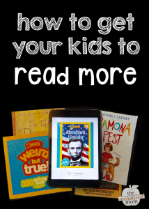 How to get kids to read more