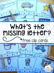 Free missing letter activity