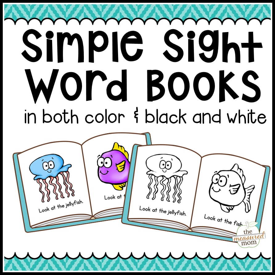 photograph regarding Sight Word Book Printable named 104 Easy Sight Phrase Publications inside of Colour B/W