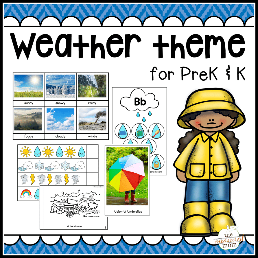 Weather Theme For Preschool And Kindergarten on Color By Sight Word Pages