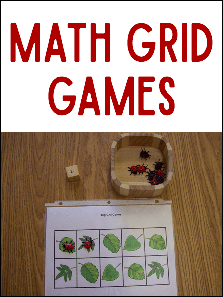 Math Grid Games From Prekinders